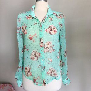 About a Girl Button Down Blouse